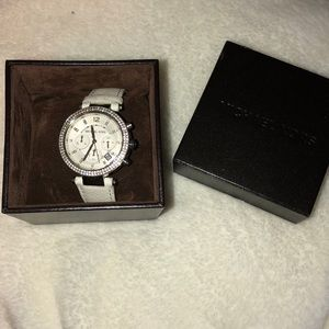 Michael Kors white band watch